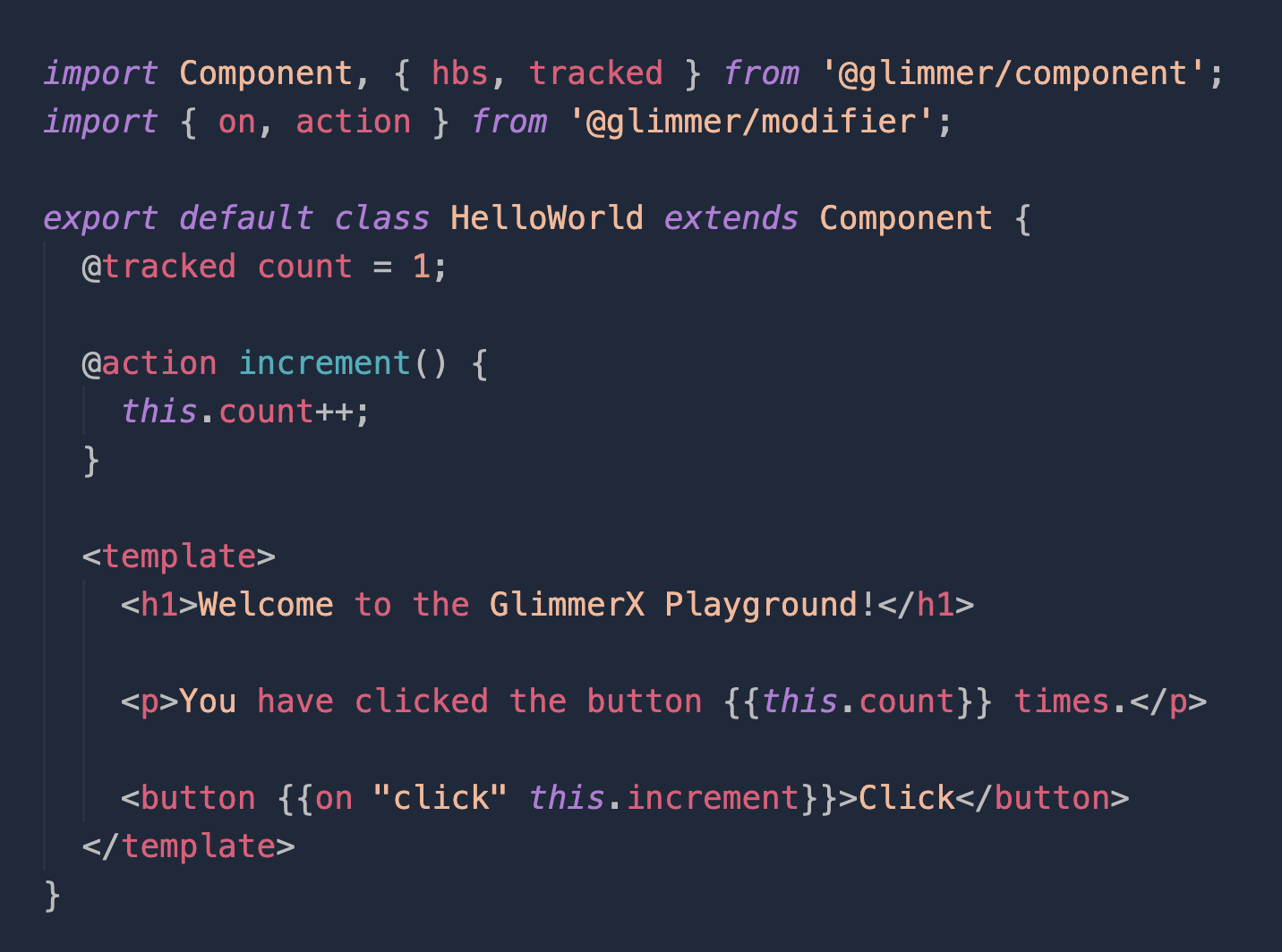 Example of a Glimmer component